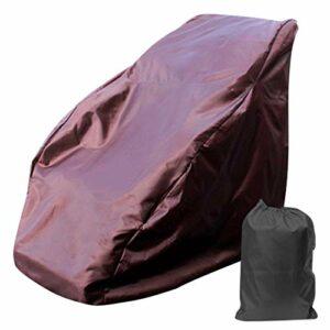 Housse de chaise de massage universelle, housses de chaise de massage shiatsu complet du corps imperméable, housse de protection anti-poussière pour chaise inclinable simple, 63 x 39 x 55 pouces