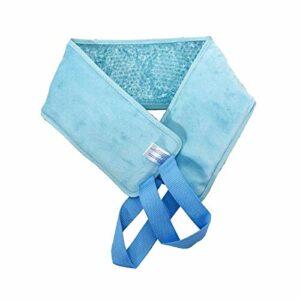 kowaku Cou Pack de Glace Maux de Cou Ecchymoses Gel Perles Wrap Chaud/Froid – Bleu