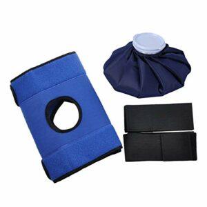kowaku Enveloppe Réutilisable de Sac de Glace de Thérapie de Paquet de Glace de Gel pour La Compresse Froide de Blessures de Givrage – 9 Pouces