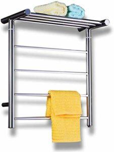 L&B-MR Chauffe-serviettes électrique chauffant à température constante en acier inoxydable pour salle de bain