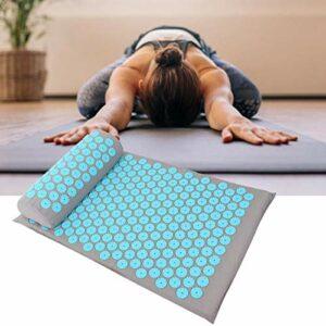 Le tapis de massage 68 x 42 cm vous permet de vous sentir détendu pour améliorer la qualité du sommeil pour améliorer la rigidité et la(Light gray sky blue buckle)