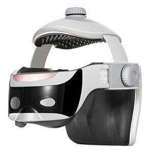Lzcaure Head Massager Tête de Massage électrique Masseur de tête Head Therapy Instrument Automatique Massage Accueil Massage Casque Portable Massager (Color : White, Size : 22x24x26cm)