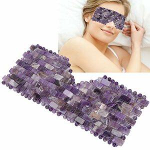 Masque de sommeil en jade, masque de relaxation pour les yeux Jadestone naturel réduit l'outil de soin de sommeil en pierre de cercle sombre pour détendre les yeux et réduire le cercle sombre(marron)