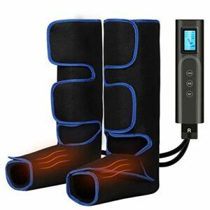 Masseur de Jambes Appareil de Massage Jambes Pieds Circulation Electrique rechargeable par USB,6 modes 3 température la relaxation Pieds de mollet Cuisse