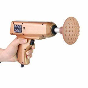 Masseur orthopédique à main, arme à feu chiropratique intelligente à fréquence variable avec 4 vitesses de vibration et 3 modes, adaptée au massage musculaire de correction de la colonne cervicale