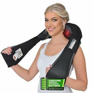 Masseur sans fil allemand Donnerberg – Masseur pour l'épaule, cou avec batterie rechargeable -Shiatsu Massage des tissus profonds avec vibration et chaleur – Garantie de 7 ans – NM090