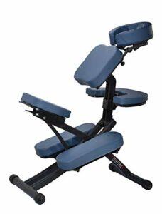 Master Massage Rio Chaise de Massage Portable légère et Robuste avec étui de Transport pour Bagages Bleu Roi