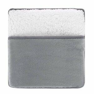 Milageto Chauffe-Pieds Coussin Chauffant électrique Coussin en Molleton Ultra Doux