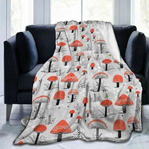 Mushroom Couverture en flanelle douce et chaude
