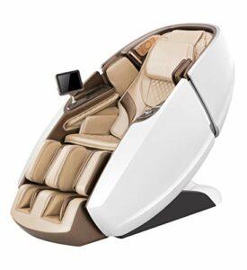 Naipo Fauteuil de massage 3D en forme de capsule – Pour tout le corps – Avec fonction chauffante, système de massage à l'air, apesanteur – Shiatsu – Pétrissage – LED – Bluetooth – Massage des mollets