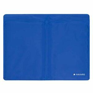 Navaris Compresse chaud froid réutilisable XL – Poche de gel 35 x 28 cm – Patch anti douleur dos ventre cou genou cheville – Réduction fièvre