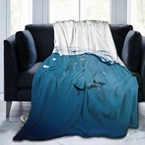 Oceanic Sharks Couverture en flanelle douce et chaude