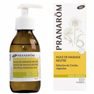 Pranarôm – Mélange d'Huile de Massage Végétale Neutre Bio Eco – Formule Riche Et Non grasse – 100 ml