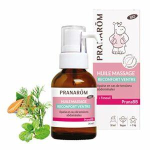 Pranarôm PranaBB Huile de Massage Confort Digestif, Apaise En Cas De Tensions Abdominales, Fenouil, BIO, 30ml