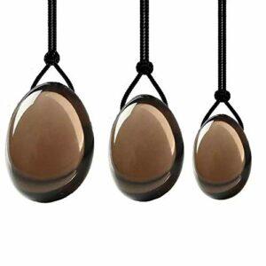 Rose Quartz Jade Yoni Egg Set Kegel Muscle Exercise Yoni Eggs Natural Stones-Type 13