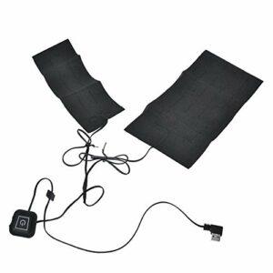 SALUTUYA 5V 2A USB Gilet Chauffant Coussin Chauffant Coussin Chauffant électrique Coussin Chauffant sûr Chauffe-Taille Durable avec Chauffe Rapidement pour Les maux de Dos