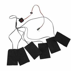 SALUTUYA Tissu Chauffant USB Polyester Noir Pliable à 3 températures + Fibre métallique, pour l'hiver Froid