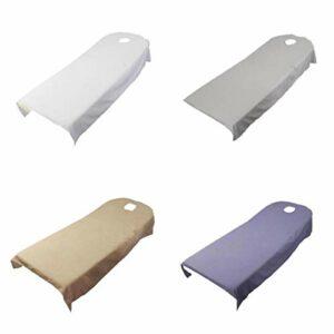 SDENSHI 4 Pcs Polyester Beauté Lit Couverture De Massage Spa Table Lit Draps Plat W/Trou