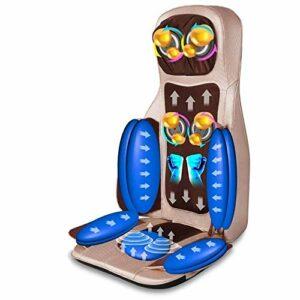 Shiatsu Back Massager Coussin de siège de Chaise de Massage à pétrissage électrique avec Protection Contre Les Vibrations et la surchauffe par Compression d'air Thermique pour Le soulagement du Stre
