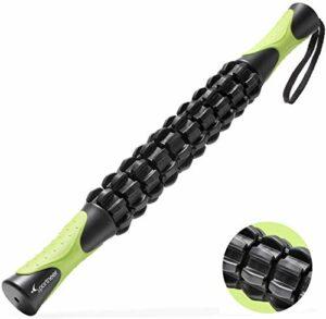 Sportneer bâton de massage rouleau musculaire, outils de massage pour le corps, rouleau de mollet, appareil de massage des jambes arrière pour soulager les athlètes