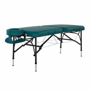 Tables de massage Le Lit De Massage Pliant Portable De Spa De Massage De Lit De Beauté De Ménage Peut Stocker Le Trépied D'alliage D'aluminium Stable Et Durable ( Color : Green , Size : 184*71*81cm )