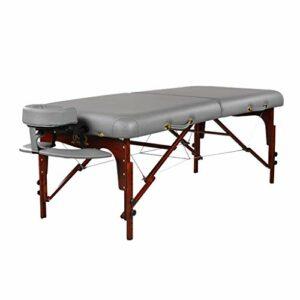 Tables de Massage Table De Beauté Stockage Portable Lit De Beauté Ménage en Bois Massif Lit De Physiothérapie Multifonctionnel Lit Pliant De Massage (Color : Gray, Size : 192 * 82 * 91cm)