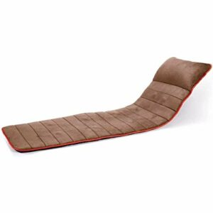 Tapis de Massage Complet du Corps avec Chaleur et Masseur de Cou Shiatsu Coussin de Massage de lit Coussin de Massage ponctuel Pliable, Gris