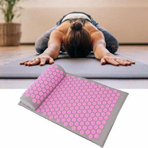 Tapis de yoga 68 x 42 cm favorisant la circulation sanguine pour améliorer la rigidité et la fatigue du corps pour masser le corps durable(Light gray powder button)
