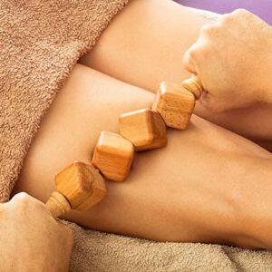 Tuuli Accessories Anti Cellulite Masseur Rouleau à Cubes de Massage Appareil Maderothérapie Bois 40 cm