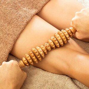 Tuuli Accessories Anti Cellulite Masseur Rouleau de Massage Appareil Maderothérapie Bois 40 cm