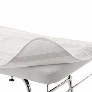 Vivezen ® Couverture chauffante électrique 180 x 75 cm pour table de massage – Blanc – Norme CE