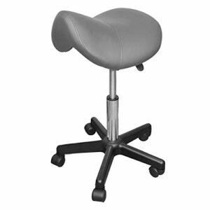 Vivezen ® Tabouret ergonomique, selle de cheval à roulette réglable en hauteur de 50 à 70 cm et pivotable à 360° – 4 coloris – Norme CE