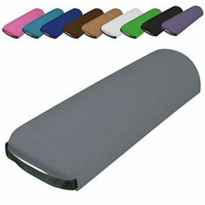 Vivezen ® Traversin, coussin demi-rond 66 cm x 22 cm x 12 cm pour table de massage – 10 coloris – Norme CE – Gris