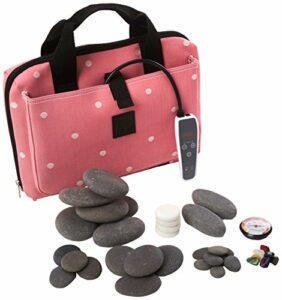 Vulsini Lux Mini Pad Polka Rose clair Coussin chauffant kit–Pierre Lot de 36pièces