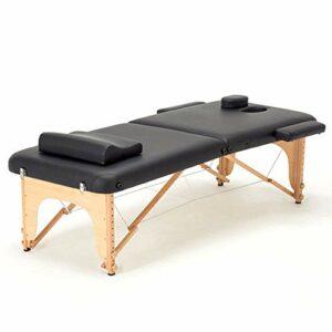 WANGXN Table de Massage Professionnelle Pliables et Hauteur Réglable Table de massagepliante Salon Tatouage Reiki Massage,Black
