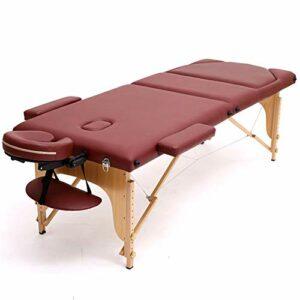 WANGXN Table de massagepliante Ergonomique Pliables et Hauteur Réglable Table de Massage,Red