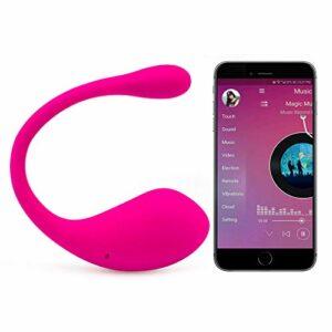 «Wearable APP sans Fil Télécommande Butterfly Massaging Toys – Vibration à vitesses – Télécommande sans fil – Silencieux, Doux pour la peau – T-shirt pour la relaxation des épaules et du dos du cou»