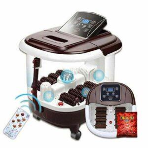 Yeeeeu Bain de Pieds Spa avec Chauffe-Eau (8 Rouleaux de Massage électrique, l'écran d'affichage Peut être plié, Une Plaque de Massage en Forme d'aiguille, il Peut Masser Pas d'eau)