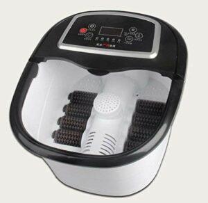 Yeeeeu Bain de Pieds Spa avec Chauffe-Eau (8 Rouleaux de Massage électrique, télécommande sans Fil)
