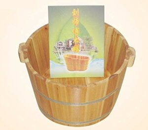 Yeeeeu Sapin de Chine Spa Bain de Pieds Baril Bois Maison en Bois Bassin