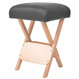 Zerone Tabouret de Massage Pliable, Siège Assis de Table de Massage Repose-Pieds de Massage Rembourré pour Maison Spa Salon de Beauté, 35 x 35 x 52 cm