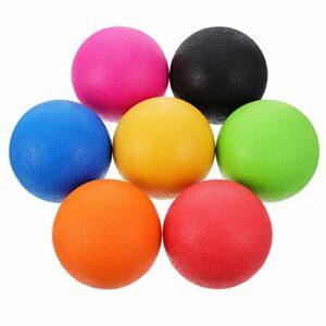 Abaodam Lot de 7 balles de massage en TPE – Moulées par injection – Relaxation musculaire profonde