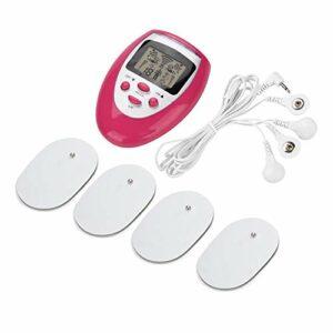 Appareils de massage de cou, appareil de massage de vertèbre cervicale de thérapie physique de stimulateur de muscle de cou d'impulsion électrique(rouge)