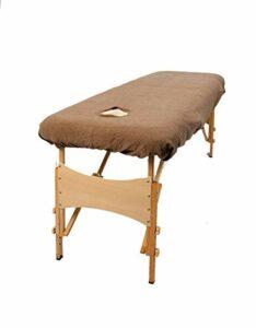aztex Housse de protection pour table de massage classique, adaptée aux salons, spas et thérapeutes, avec ou sans trou pour le visage, moka – avec trou pour le visage