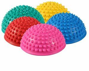 Balle de Massage Semi-Circulaire, balles de Massage de Yoga pour Enfants et Adultes Pod d'équilibre Semi-Circulaire Foot Fitness Pods de stabilité arqués, Pod d'équilibre de Style hérisson Demi-Boule