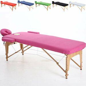 Beltom Ensemble de Couverture en Coton pour Table de Massage 195 x 70 cm. – Rose