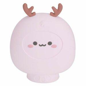 Bouillotte de dessin animé bouteille d'eau chaude douce et élastique sac d'injection d'eau de bureau chambre à coucher(Pink)