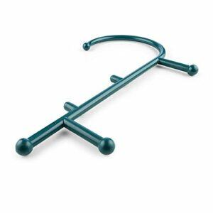 CAPITAL SPORTS Mr Trigger – Crochet auto massage , dos, cou et épaules , forme ergonomique en J , traitement des tensions et crampes , nombreuses utilisations , nylon & plastique robuste , vert