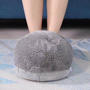 Chauffage USB – Chauffe-pieds amovible facile à nettoyer – Coussin électrique pour le bureau pour le camping (gris)