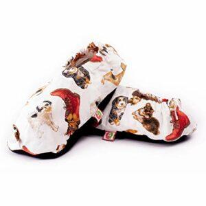 Chaussons Chauffants Micro Ondes – Pantoufle Chauffante au Micro-Onde (Taille Unique) – Bouillotte Pieds Froids – Housse Lavable, 100% Coton et Odeur de Lavande